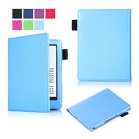 Wholesale beautiful books - New Cover for Kindle 558 Case 2016 6 inch E-books Tablet Smooth PU Leather Beautiful Colorful Skin Solid Cover + Pen