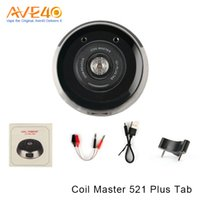 Wholesale master dual - Authentic Coil Master 521 Plus Tab for Test the Battery Output Work with Single or Dual Batteries