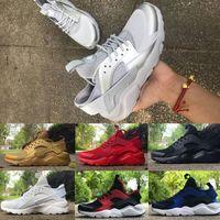 Wholesale Cheap Canvas Shoes For Women - 2017 Air Huarache IV Running Shoes For Men&Women High Quality Cheap Sneakers Air Huaraches Run Sports Running Shoes Triple White Black