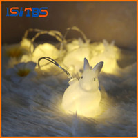 2017 Hot Selling 1.65M White Rabbit LED String Holiday Party Light Noël Décoration de mariage feux de rideau