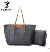 Wholesale Simple Leather Women Bags - 200-300 women Fashion Buckle Simple Women shopping Bag
