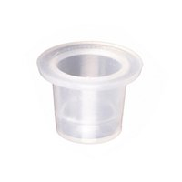 Wholesale Disposable Tattoo Caps - Wholesale-100Pcs 19*15mm Plastic Tattoo Ink Cups Tattoo Makeup Eyebrow Makeup Pigment Container Caps Disposable Accessories