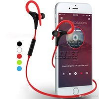 Wholesale Earphone For Music Player - Bluetooth Headphones Sport Wireless Headset Hook Stereo Music Player Neckband Earphones Jogging Headphones For Iphone 7 With Retail Box