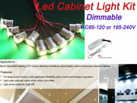 Wholesale 3W Mini Led Cabinet Light with Power Driver Kit Cree Led Chip Dimmable Recessed Down light Spotlight for indoor decorative lighting