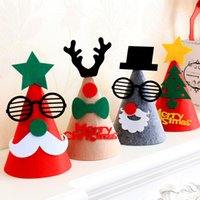 Wholesale Cartoon Hats For Sale - 25Cm Height Hot Sale Christmas Decoration Santa Clause Hats Santa Hats Gifts For Kids Non Woven Fabrics Decals Kids Hat