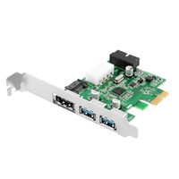 Wholesale Motherboard Connector Pins - Power Over eSATA eSATAp II & USB 3.0 USB3.0 to PCI-E PCI Express Card w  Motherboard 20 pin Connector