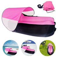 Wholesale Inflatable Bbq - Inflatable Lounger, WEILIANTE Outdoor Portable Air Sofa Couch Sleeping Bag with Beach Sunshade for Camping Hiking Beach BBQ Fishing Camping