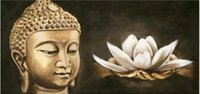 Wholesale Oil Paint Portraits - Religious Buddha,Pure Hand Painted Modern Abstract Portrait Art Oil Painting On High Quality Canvas.Multi customized size Re002