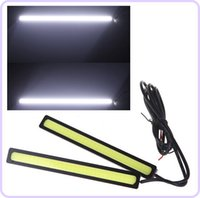 Wholesale Daytime Car 4w - 2*14cm 4W COB Car LED DRL Daytime Running Fog Lamp Light Bar White 12V