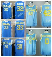 159c47795863 2017 UCLA Bruins College Jerseys Uniforms 42 Kevin Love Shirt 33 Kareem  Abdul Jabbar 0 Russell Westbrook 31 Reggie Miller 32 Bill Walton ...