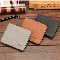 Wholesale Polish Coffee - Vogue Polishing Mens Pu Leather Bifold ID Card Holder Money Wallet Purse Clutch Black Grey Coffee Color Soft Leather A328