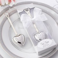 Бесплатная доставка Heart Shaped «Tea Time» из нержавеющей стали Tea Infuser / Tea Party Favors / Wedding Favors / Wedding Souvenir 50 set / lot