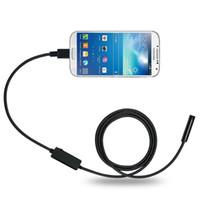 encanamento industrial venda por atacado-Android Endoscópio Móvel Android 8 MM Lens 1/2 / 3.5 / 5 M Snake Camera Inspeção À Prova D 'Água Endoscópio para Laptop com OTG / UVC