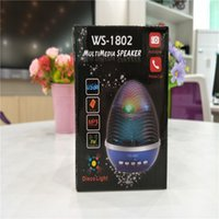 WS-1802 Stand Egg Colorful Mini Altavoces inalámbricos Bluetooth Luz LED Flash Super Bass Portable BeatBox Hi-Fi Handfree