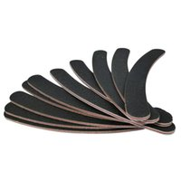 Wholesale curved file - Wholesale- Nail Art Tool 10 Double Sided 100 180 Boomerang Curved Nail Files Emery Board