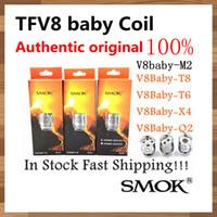 Wholesale Atomizer Core Coil - 100% Authentic Original Smok TFV8 BABY Beast Tank Coils Head V8 Baby T8 T6 X4 M2 Q2 0.4ohm Core Atomizer coil
