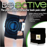 Wholesale Knee Brace Right - Beactive Pressure Point Brace For Back Pain Therapeutic Unisex Left Right Knee Pads Supports Leg Be Active Sports Safety CCA6567 100pcs