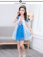 Wholesale Camisole For Girls - 2017 Girls Summer Dress Sophia cartoon princess dress color Camisole skirt cotton Ball Gown for baby kids