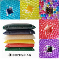 Wholesale Gel Beads For Flowers - 3000pcs set Hydrogel Balls Growing Water Balls Water Beads Crystal Gel Aqua Jelly Beads Grow Crystal Soil For Flower Wedding Home Decor