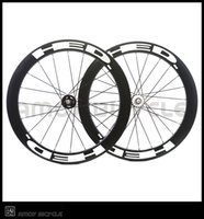Wholesale fix bike gears - Free shipping track bike HED 60mm clincher black painting fixed gear wheels 700C wheelset fixie bike