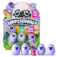 Wholesale Interactive Kid - Hatching Eggs Interactive Cute Fantastic Growing Hatchimals Chrismas Gifts for Kids, Smart Toys for Children Education 4 PCS