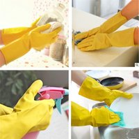 Wholesale Latex Clothes Xxl - Hot sale Wash the dishes Housework gloves Waterproof gloves for washing clothes Household antiskid gloves IA959