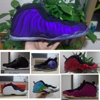 Wholesale Penny Hardaway Basketball Shoes - Eggplant mens basketball shoes penny hardaway sneaker Dr.Doom Maroon Metallic Red outdoor athletic trainer tennis shoes size 41-47