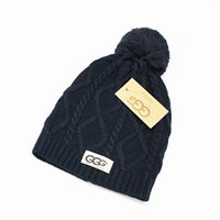 Wholesale Beanies Knitted Hats Ladies - hot fashion classic tight-fitting knitted sweaters plus ball hat the best quality of women's hat headdress Warm Ladies hat