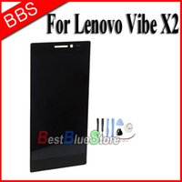 Wholesale Vibe Iphone - Wholesale-Replacement LCD Display Touch Digitizer Screen Assembly For Lenovo Vibe X2 +Tools Free Shipping