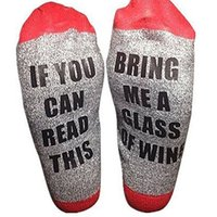 Wholesale Socks For Women Winter - 18 styles letter socks compression socks IF YOU CAN READ THIS Bring Me a Glass of Wine Beer happy socks for big children men women C2525