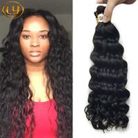 Wholesale Human Micro Braid Hair - Top Quality Brazilian Hair 50g Human Hair Braids Bulk Deep Wave No Weft Wet And Wavy Deep Curly Micro mini Braiding Bulk Hair