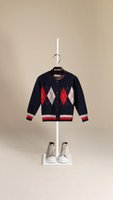Wholesale Infant Outerwear For Boy - 2017 Winter Pullover Cardigan for Girs Kids Knitwear Baby Girls Long Sleeve Outerwear O-neck Boys Sweaters Infant Sweater