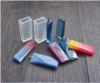 ingrosso resina liquida-2 stili ciondolo in silicone liquido fai da te lanuggine ciondolo stampo strumento di creazione di gioielli in resina accessori casa mestieri