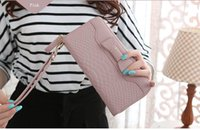 Hot Sale Femmes Lady Long Portefeuilles Purse Femelle Candy Color Bow Cuir PU Carteira Feminina pour Coin Card
