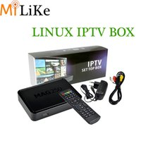Wholesale Internet Receivers - Mag 250 IPTV Android Smart TV Box streaming Set Top Box STB mag250 Google Internet Quad Core Media Player VS Mag254 260