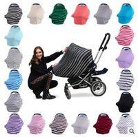 ingrosso breastfeeding scarf-Multifunzione elastico Infinity Sciarpa Wrap Baby Car Seat Cover Canopy Copertura di cura L'allattamento al seno Carrello Coprire Coprisedili 545