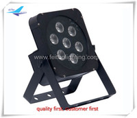 Wholesale Rgbwa Flat Par - high quality 6xlot 7x15W 5IN1 RGBWA LED Flat Par Profile Dmx Stage Lighting Digital Led Display 5 9Channels