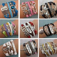 Wholesale Wholesale Easter Boutique - Fashion Link Chain Bracelets Jewelry For Woman Boutique India Bohemian style multi-layer braided bracelet jewelry wholesale 1329