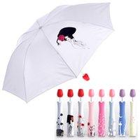 Wholesale Wholesale Flower Umbrella - Perfume Rose Flower Vase Umbrella Outdoor Travel Portable Rain Sun Umbrella Wine Bottle Umbrellas Folding Umbrella 8 Styles OOA2353