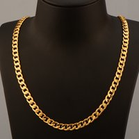 Wholesale men s gold chain necklace - European and American version of gold - plated men 's necklace 6MM1 than 1 18K gold Feijiarot necklace jewelry wholesale NB60045