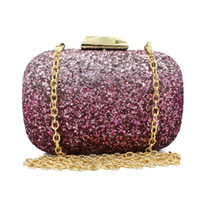 Wholesale Lady S Purse - Wholesale- fuchsia fashion design s party sequin clutch with chain evening bag ladies purse(C112)