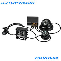 Wholesale Dhl 4ch Dvr - HDVR004 Real HD 4CH 3G Vehicle 1080P Mobile DVR for Vehicle TAXI with WIFI G-Sensor GPS DHL free shipping AT