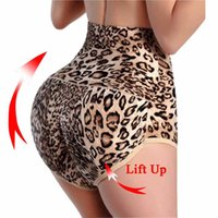 Wholesale Leopard Print Body Shaper - Wholesale- Leopard Print slimming underwear butt lift and tummy control panties booty lifter women body shaper buttock shorts bum lifting