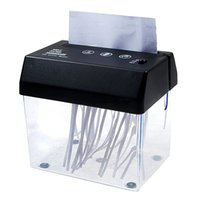 Wholesale Dc Power Mini Usb - Wholesale-Portable Electric Paper Shredder USB Powered AA Battery DC Operated with Letter Opener Bill Mail Document Cutter Mini Trash Bin