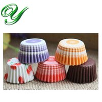 Wholesale Cupcake Red Liner - Cupcake liners paper cases macaron muffin wrappers stand 3.5cm red purple pastry baking tools Kids Birthday Party Decorations 4200pcs carton