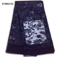 Wholesale Wine Colored Lace Fabric - Wholesale Swiss Voile Lace Fabric ith Sequins African Tulle Lace wine red black blue Color Cheap Price Nigerian Popular Dress Material