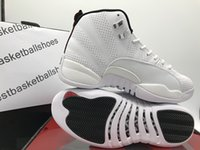 Wholesale Chinese Canvas Sneakers - 2017 NEW air retro 12 men basketball shoes Chinese New Year GS Barons Gamma Blue Sunrise Cherry Red sneaker sports US size 8-13