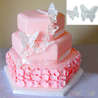 Vente en gros - NOUVEAU 2X Butterfly Cake Fondant Décoration Sugarcraft Cookie Cutters Tool Mold