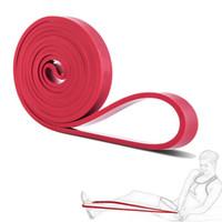 direnç bantları lateks ücretsiz toptan satış-Ücretsiz Nakliye Fitness Ekipmanları Lateks Genişletici CrossFit Döngü Direnç Güç Bantları Kauçuk Yoga Asist Bantları 2080 * 4.5 * 13mm