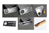 Wholesale Car Styling Stickers - High Quality Aluminum alloy Sticker Car Sport Sticker Label Emblem Badge car styling for AMG Mercedes [60x55mm,35x34mm 80x30mm more size]
